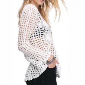 Free People / Knit Seethrough Tunic Sweater M